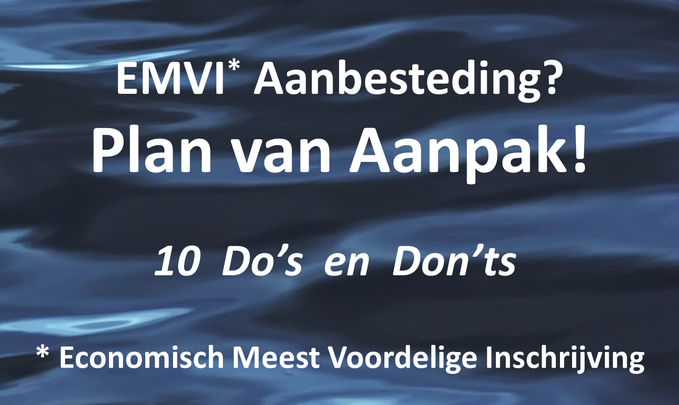 plan van aanpak aanbesteding voorbeeld Het EMVI Plan van Aanpak: 10 Do's en Don'ts – Cobalt Consult plan van aanpak aanbesteding voorbeeld